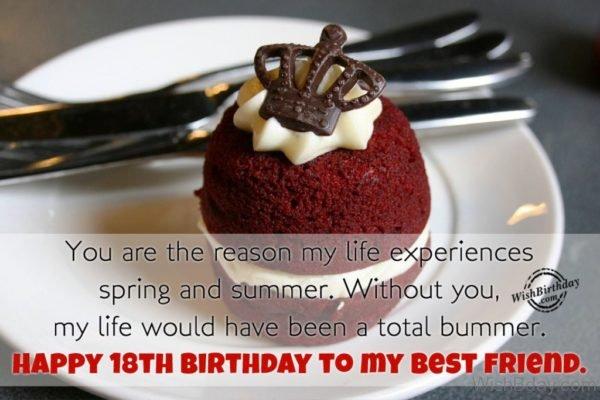 Happy Eighteenth Birthday To My Best Friend