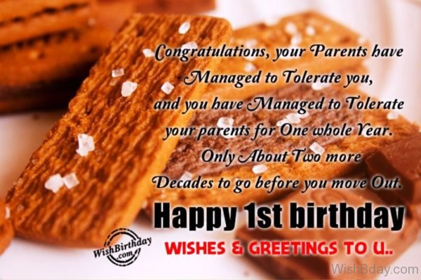 Happy First Birthday Wishes And Greetings To You