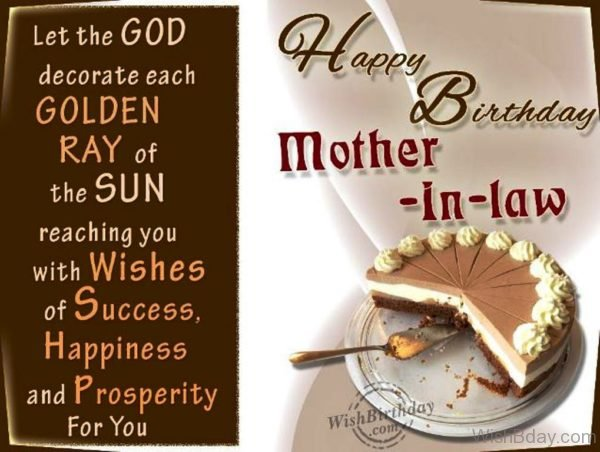 Happy Returns Of The Day To A Sweet Mother in law