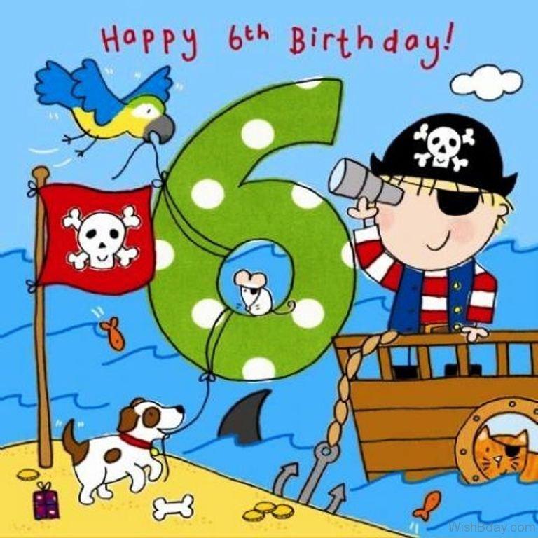 77 6th Birthday Wishes