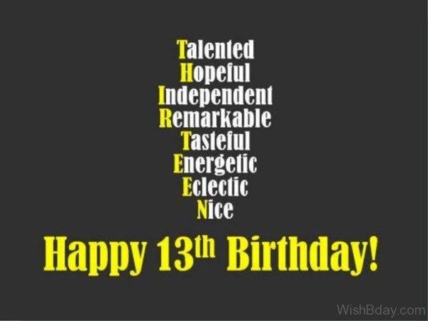 Happy Thirteen Birthday