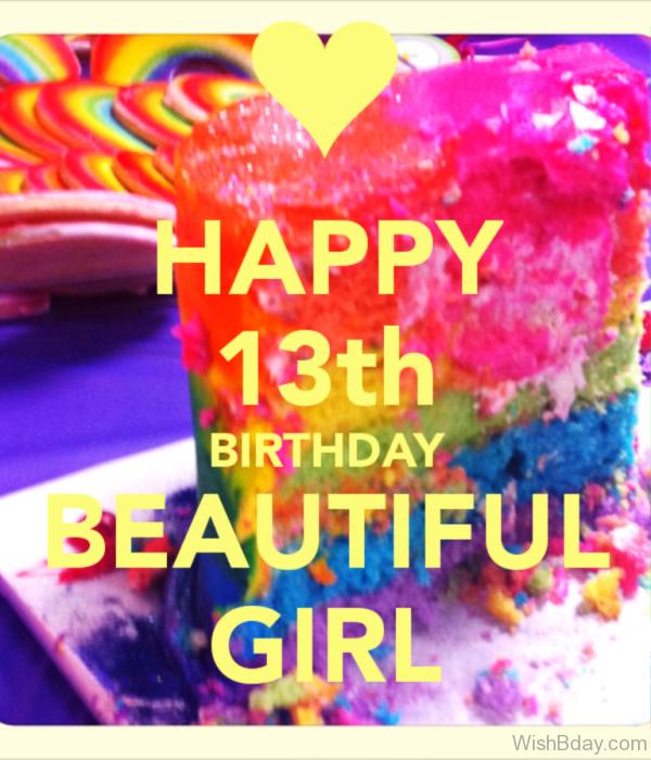 Happy Thirteenth Birthday Beautiful Girl
