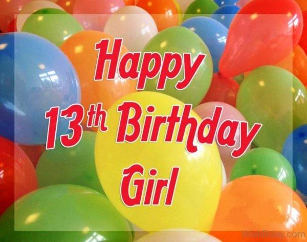 Happy Thirteenth Birthday Girl