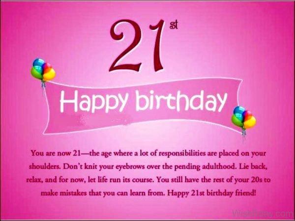 Happy Twenty First Birthday