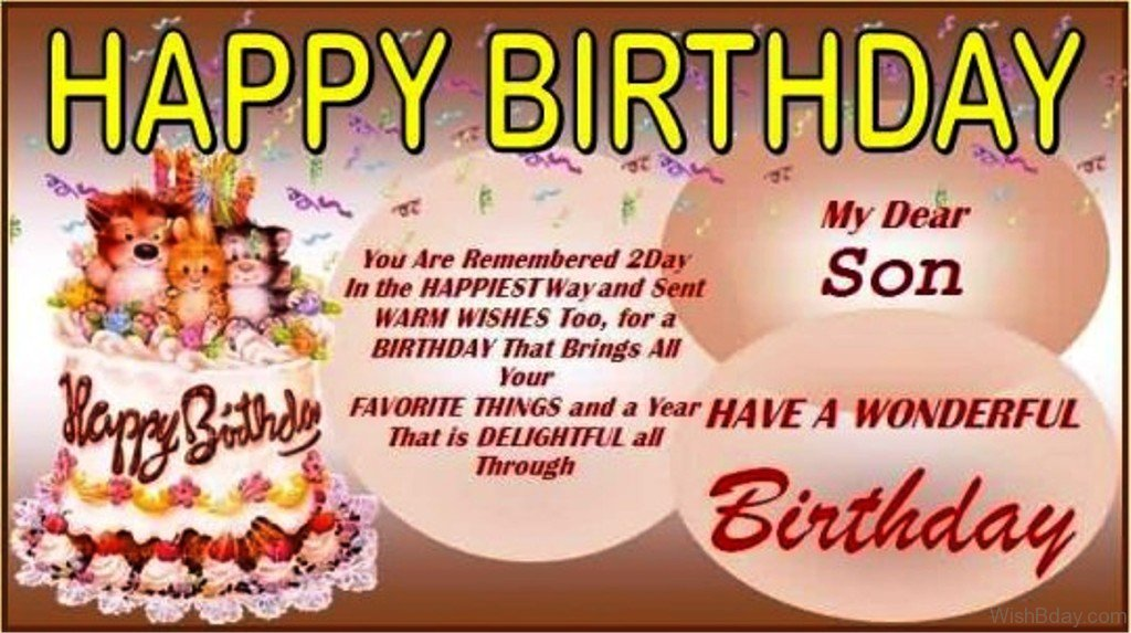 43 birthday wishes for son have a wonderful birthday m4hsunfo