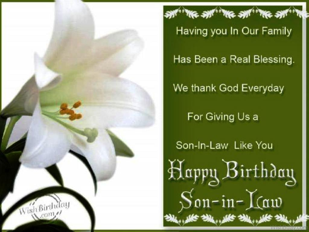 31 Birthday Wishes For Son In Law