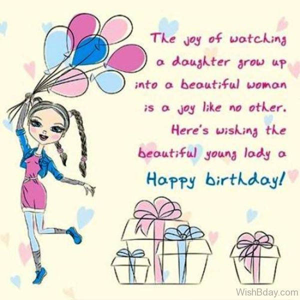 Here Wishing The Besutiful Young TOday Lady A Happy Birthday