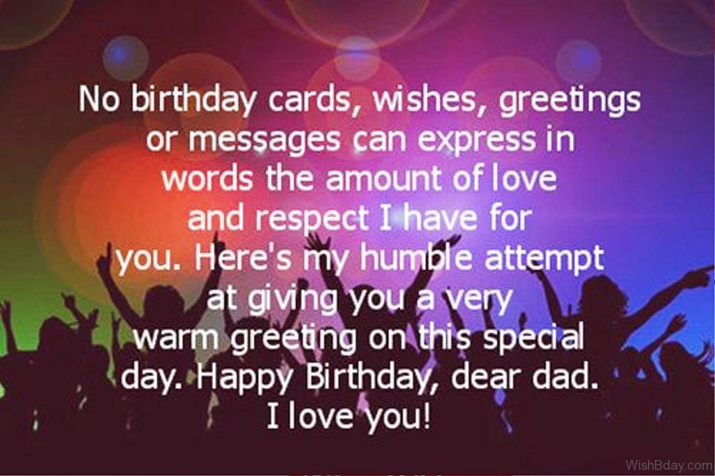 56 Birthday Wishes For Dad – Birthday Greeting Dad