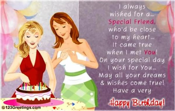 I Always Wishes For A Special Friend