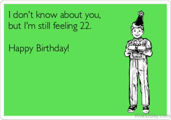I Am Feeling Twenty Second