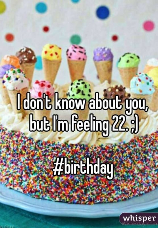 I Dont Know About You But I Am Feeling Twenty Two
