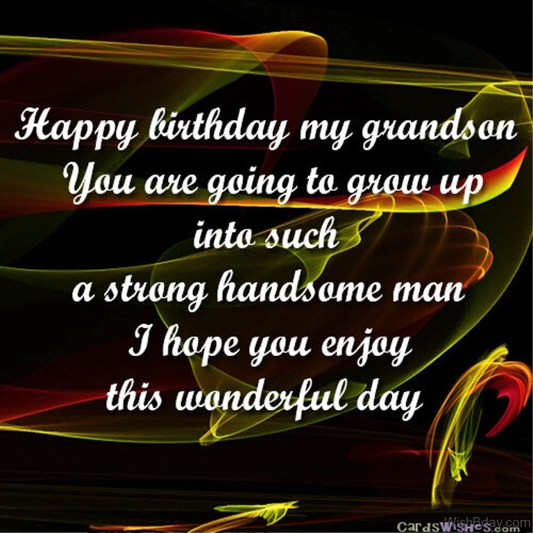 45 birthday wishes for grandson i hope you enjoy this wonderful day m4hsunfo