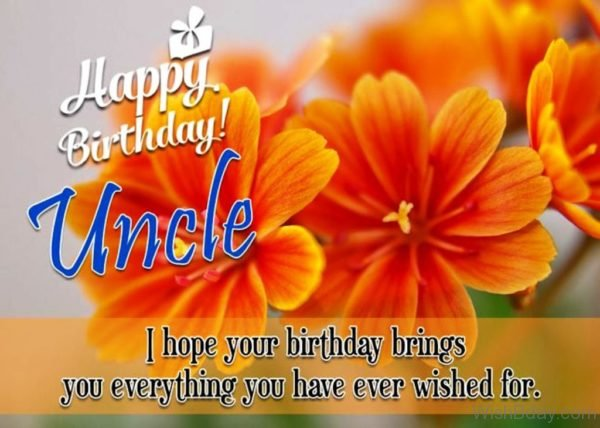 I Hope Your Birthday Brings You Everything You Have Ever Wished For
