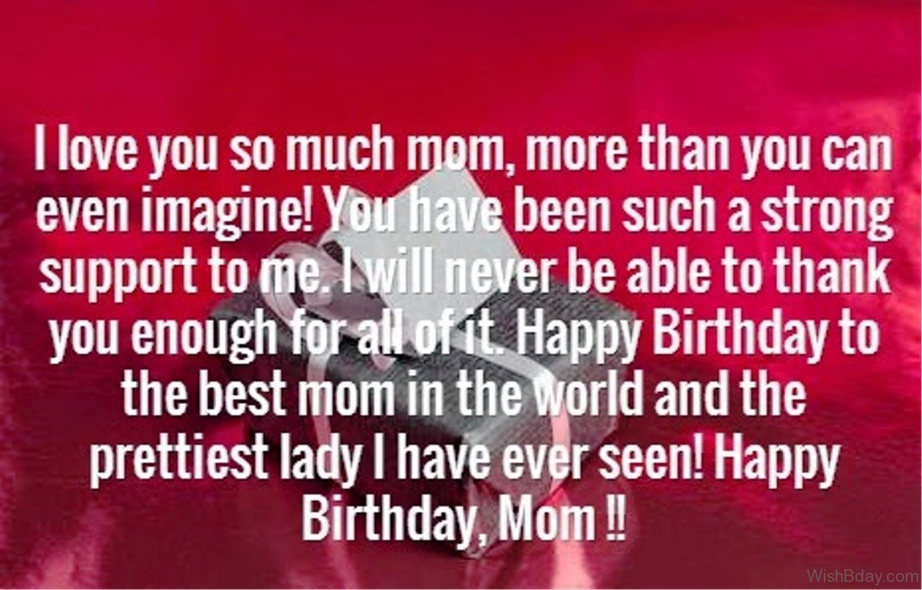 Beautiful Gifts For Mom Birthday: 50 Birthday Wishes For Mom