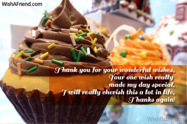 I Thank You For Your Wonderful Wishes