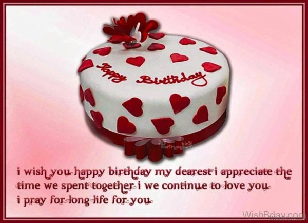 I Wish You Happy Birthday My Dearest 1