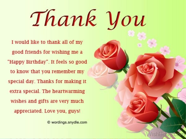 It Feel So Good To Know That You Remember My Special Day