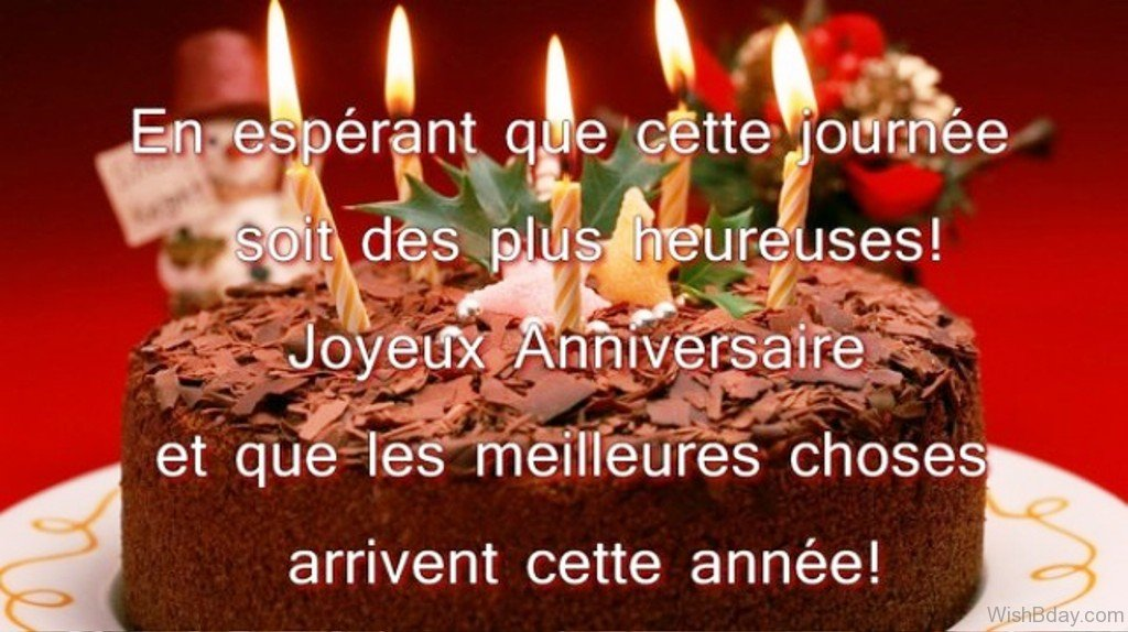 56 Birthday Wishes In French