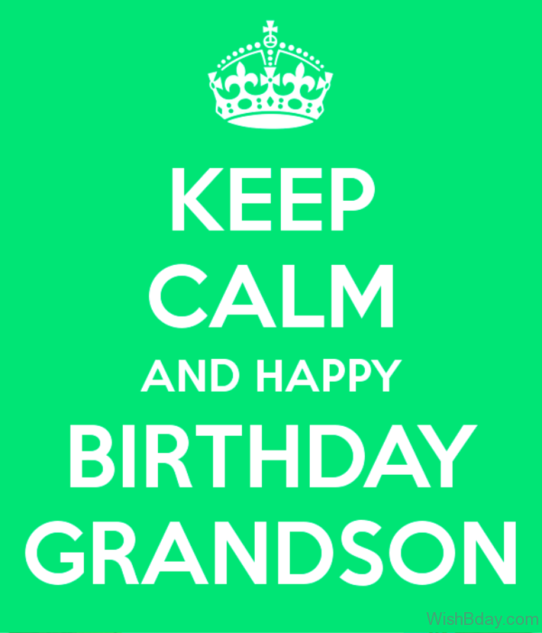 Keep Calm And Happy Birthday Gransdon