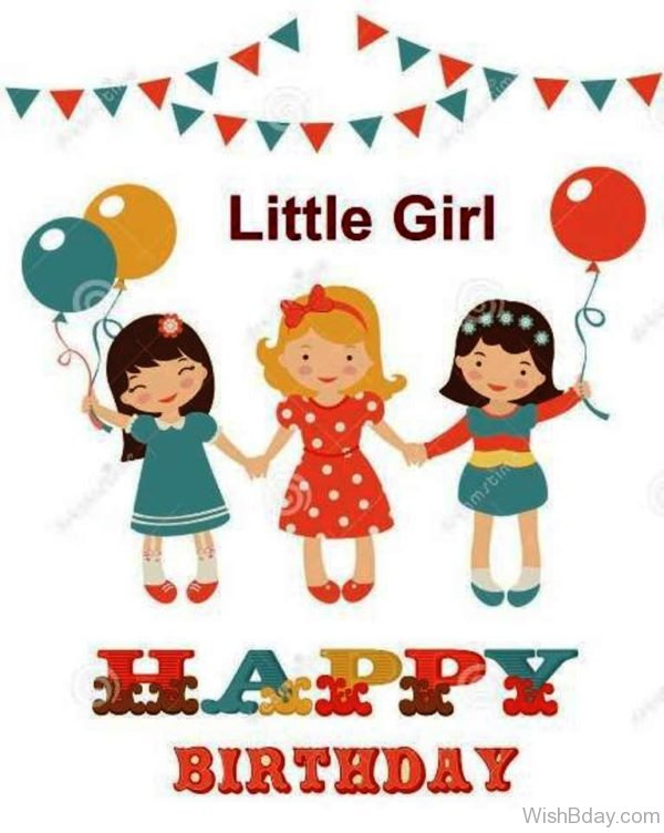 Little Girl Happy Birthday