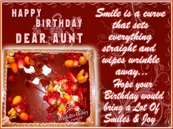 Many Happy Returns Of The Day Loveable Aunt
