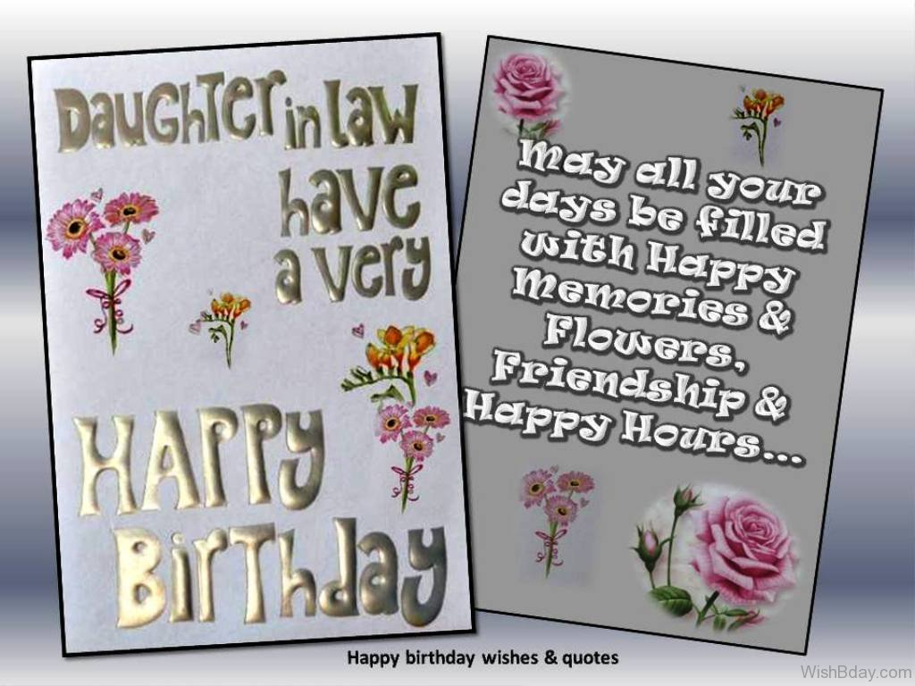 44 birthday wishes for daughter in law may all your days be filled with happy memories 3 kristyandbryce Choice Image
