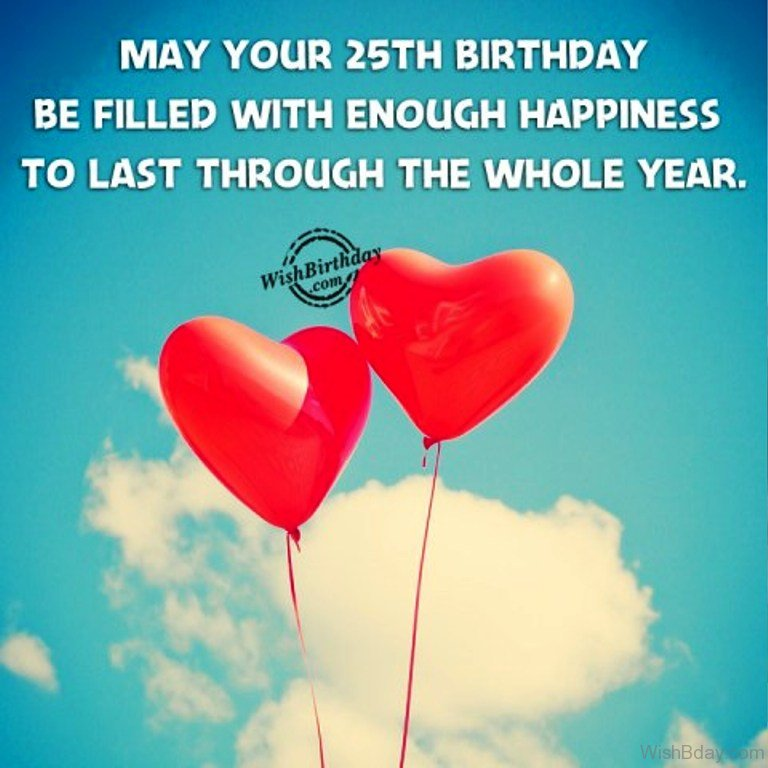 52 25th Birthday Wishes