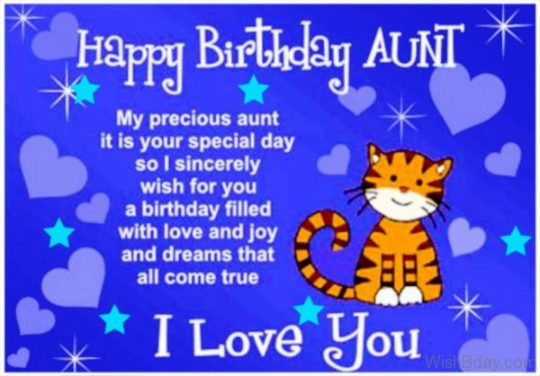 My Precious Aunt It Is Your Special Day