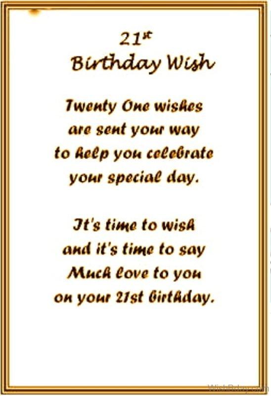 On Your Twenty First Birthday