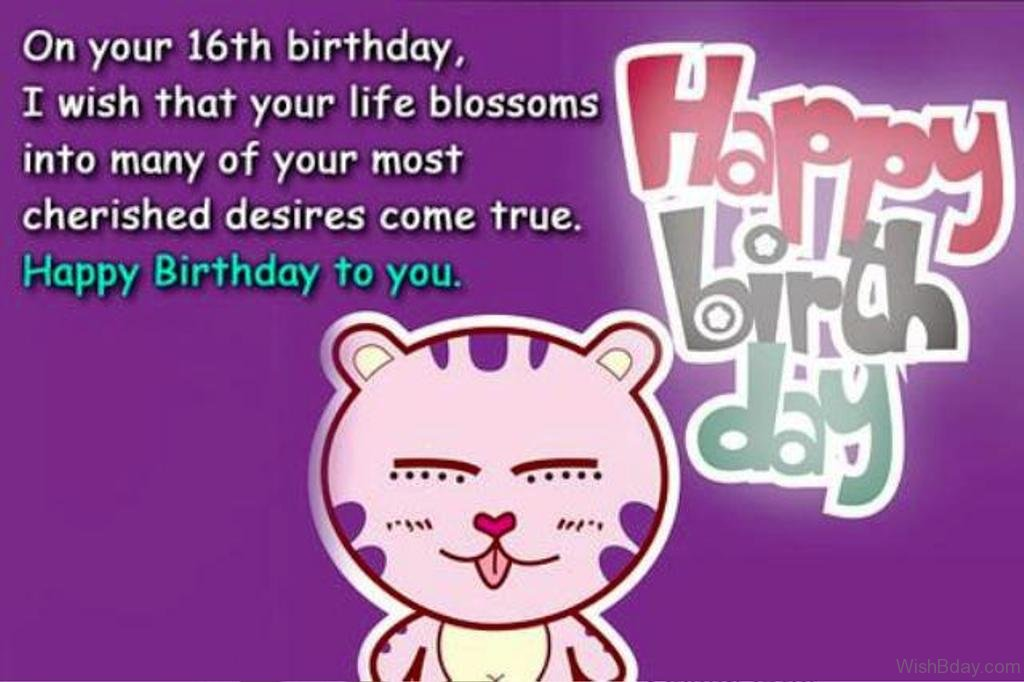 On Your Sixteenth Birthday Sweet Sixteen