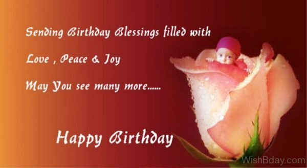 Sending Birthday Blessing Filled With Love 1