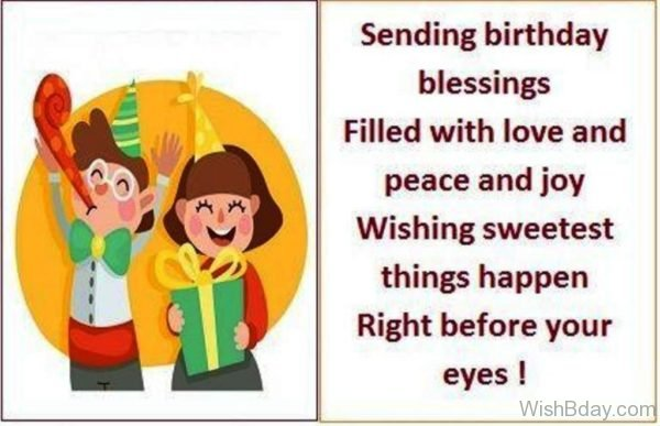 Sending Birthday Blessings Filled With Love