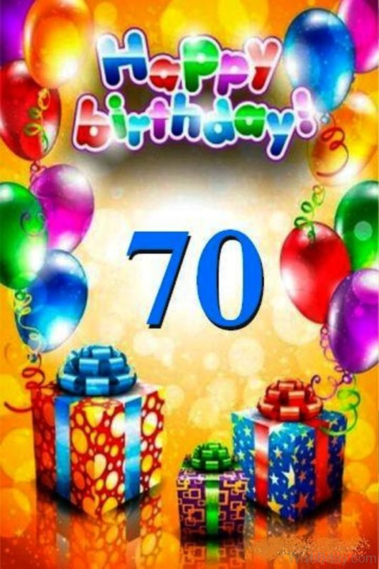 Seventy Happy Birthday Wishes