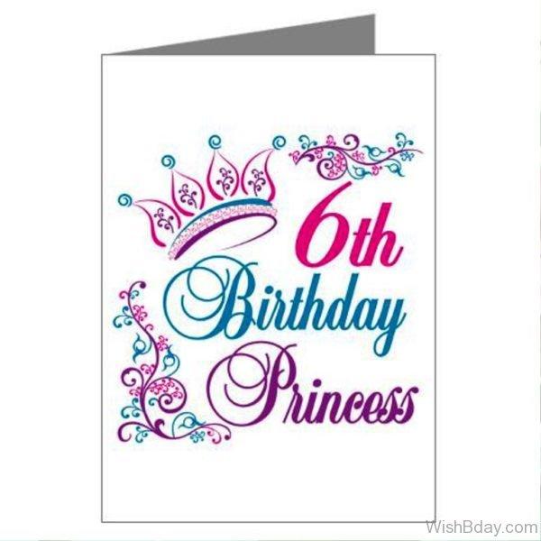 Sixth Happy Birthday Princess