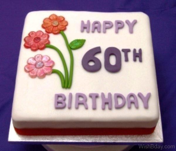 Sixty Birthday Wishes With Cake