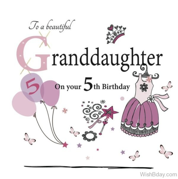 TO A Beautiful Grandaughter Happy Birthday