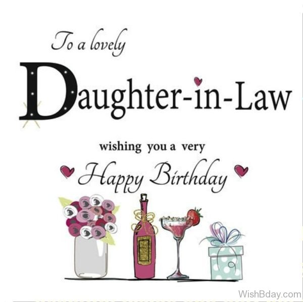 TO A Lovely Birthday Daughter IN Law 1