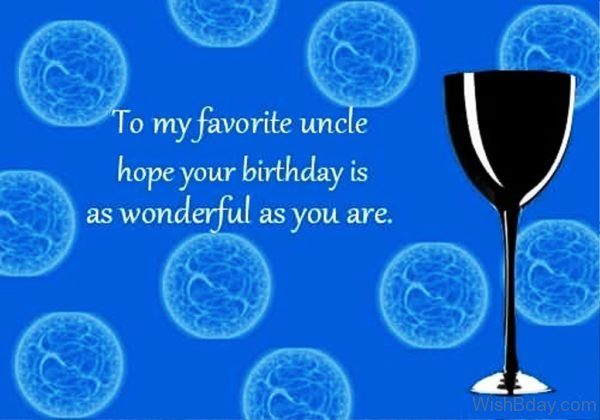 TO My Favourite Uncle