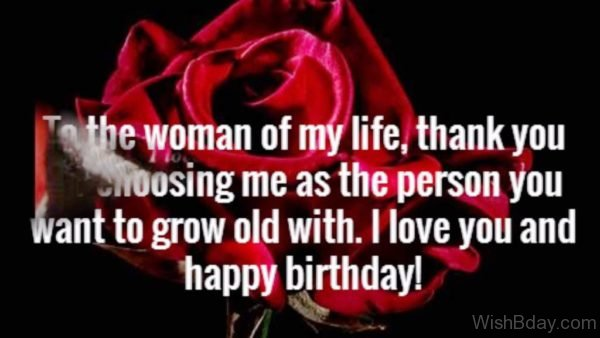 TO The Woman Of My Life