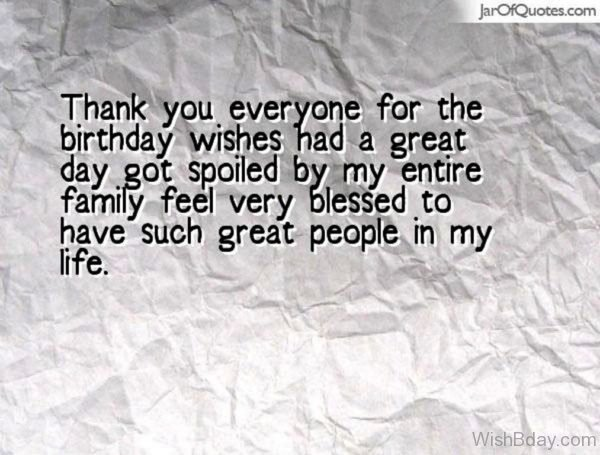 Thank You Everyone For The Birthday Wishes Had A Great Day