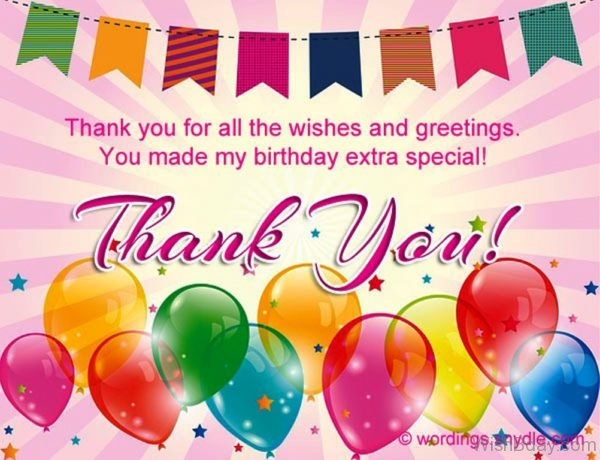 Thank You For All The Wishes