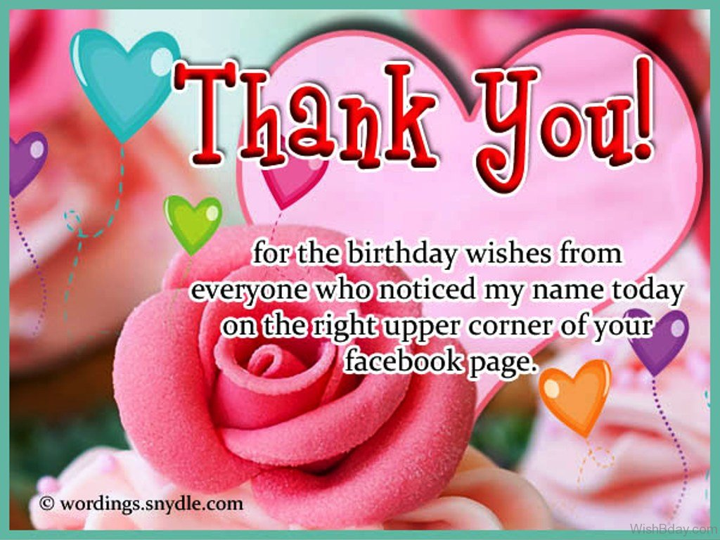 43 Thank You For The Birthday Wishes – Thanks for the Birthday Greeting