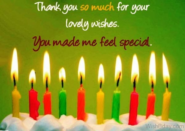 Thank You So Much For Your Lovely Wishes