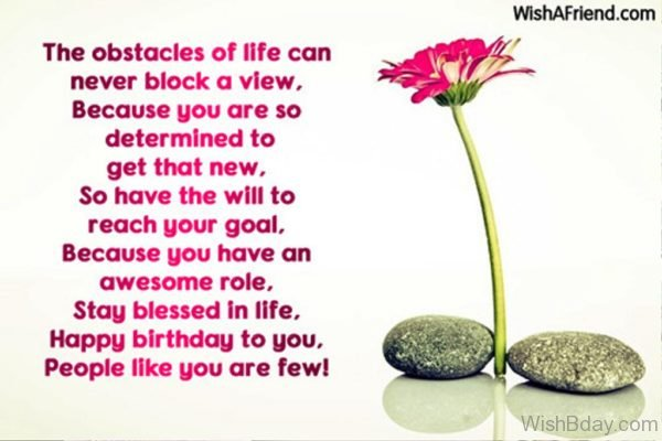 The Obstacles Of life Can Never Block A Veiw