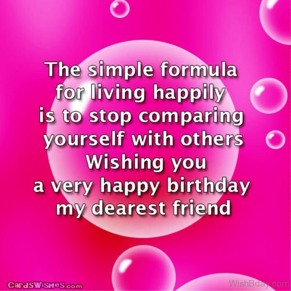The Simple Formula For Living Happily Is To Stop Comparing Yourself With Others