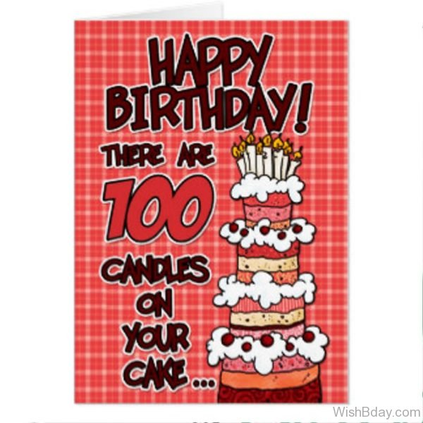 There Are Hundred Candles On Your Cake