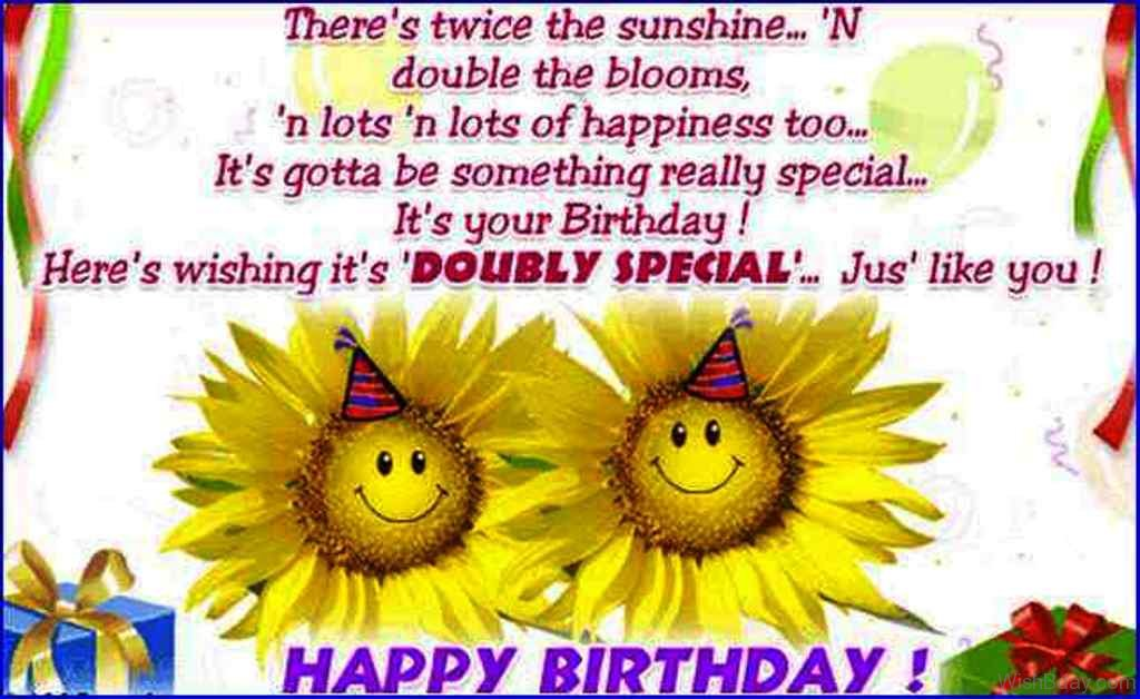 21 birthday wishes for twins theres twice the sunshine m4hsunfo