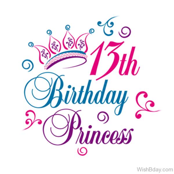Thirteen Happy Birthday Princess