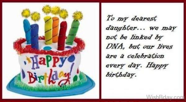 To My Dearest Daughter Happy Birthday