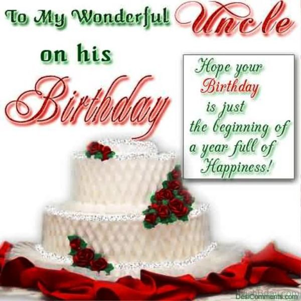 To My Wonderful On His Birthday